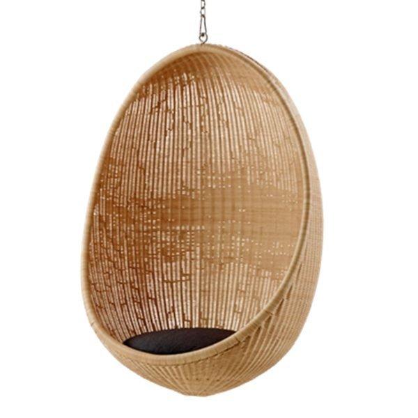 Sika-Design Hanging Egg Riippukeinu Tummanharmaa Istuintyyny