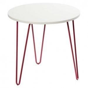 Sivupöytä 50cm Pinkki Mdf Metallijalat