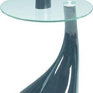 Sivupöytä Beatrice Ø 44 cm lasi/musta