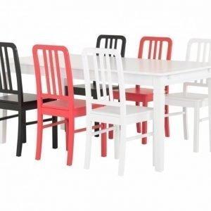 Sjövik Pöytä 180 Valkoinen + 6 EVElina Tuolia Valitse väri