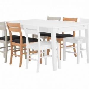 Sjövik Pöytä 180 Valkoinen + 6 Växjö Tuolia Useita värejä