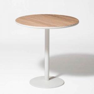 Smd Design Brunnsviken Lounge Pöytä Valkoinen / Tammi Ø70 Cm