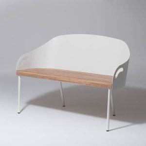 Smd Design Brunnsviken Lounge Sohva Valkoinen / Tammi