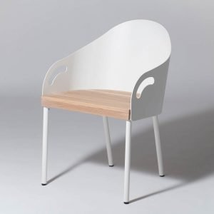 Smd Design Brunnsviken Lounge Tuoli Valkoinen / Tammi
