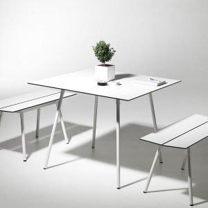 Smd Design Ella Ruokapöytä Valkoinen 90x90 Cm