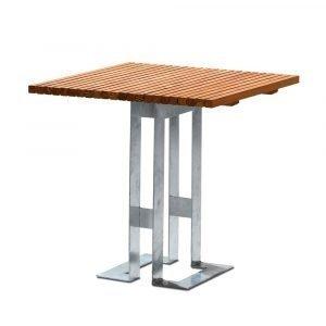 Smd Design Paus Pöytä Öljytty Tiikki 80x80 Cm
