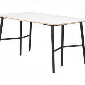 Sofia Pöytä 150 Pukkijalat Valkoinen/Musta