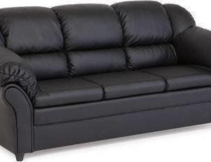 Sohva Paula kolmen istuttava keinonahka musta