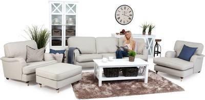 Sohvaryhmä Anita Loisto kaarevat sohvat + divaanilepotuoli 6 ist beige
