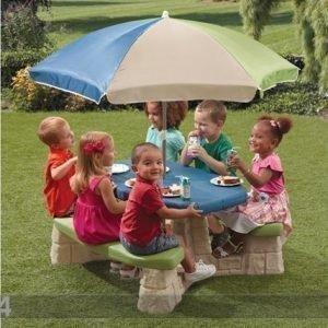 Step2 Piknikpöytä+Aurinkovarjo Step2
