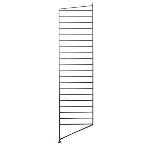 String Lattiapaneeli Musta 115x30 Cm 2 Kpl