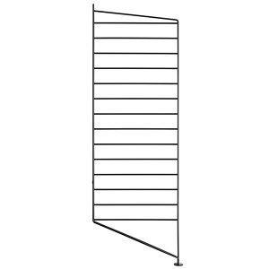 String Lattiapaneeli Musta 85x30 Cm 2 Kpl