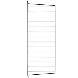 String Sivupaneeli Musta 75x30 Cm 2 Kpl