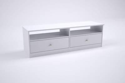 TV-taso Jutta 135 cm valkoinen