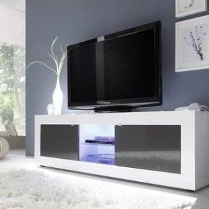 TV-taso Moderni 181x56x43 cm valkoinen/antrasiitti