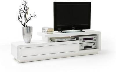 TV-taso Victoria 170x45 cm korkeakiiltoinen valkoinen