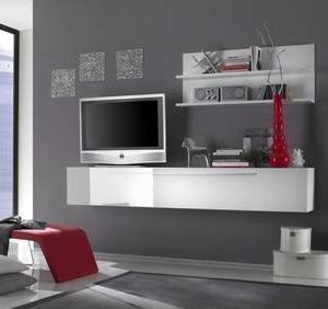 TV-taso/kaappi Kim 33x210x36 cm valkoinen
