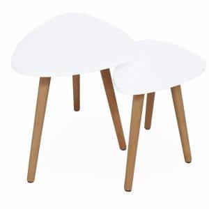 Torino Sarjapöydät Valkoinen 2 Kpl