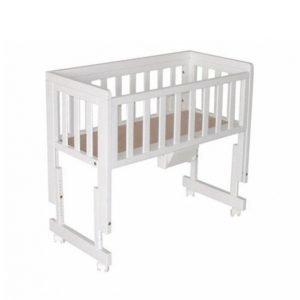 Troll Bedside Crib Two Valkoinen