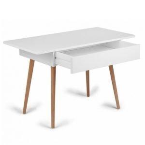 Troll Kirjoituspöytä Valkoinen / Tiikki