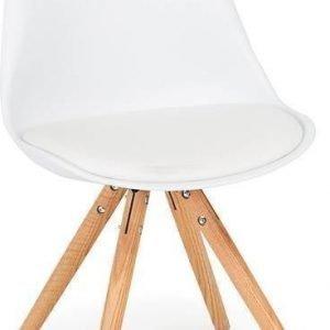 Tuoli Aaron valkoinen/tammi