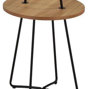 Verdahl 2 Lamppupöytä Pähkinä / Musta