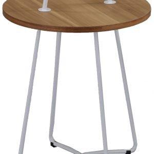 Verdahl 2 Lamppupöytä Pähkinä / Valkoinen