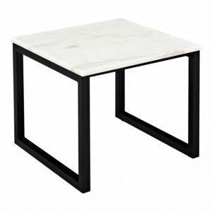 Victor Sivupöytä Musta/Valkoinen