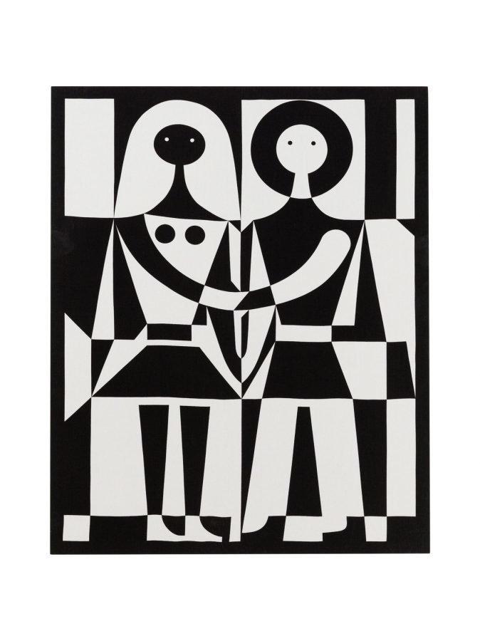Vitra Black-And-White Tekstiiliseinäpaneeli