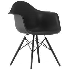 Vitra Eames Daw Tuoli Basic Dark Musta Vaahtera