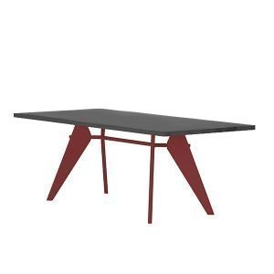 Vitra Em Table Pöytä Asphalt Japanese Red 200x90 Cm