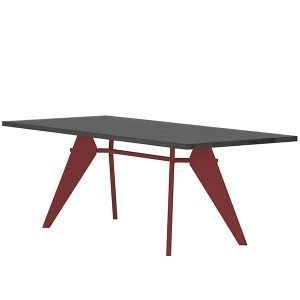 Vitra Em Table Pöytä Asphalt Japanese Red 240x90 Cm