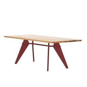 Vitra Em Table Pöytä Tammi Japanese Red 200x90 Cm