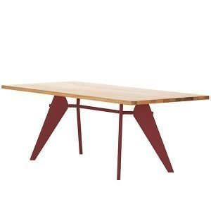 Vitra Em Table Pöytä Tammi Japanese Red 240x90 Cm