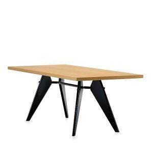Vitra Em Table Pöytä Tammi Musta 200x90 Cm