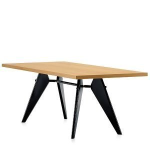 Vitra Em Table Pöytä Tammi Musta 240x90 Cm