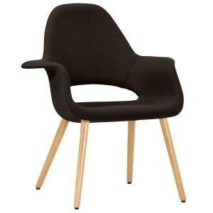 Vitra Organic Chair Nojatuoli Tammi Suklaa / Musta