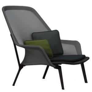 Vitra Slow Chair Nojatuoli Musta Suklaanruskea