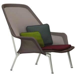 Vitra Slow Chair Nojatuoli Ruskea Alumiini