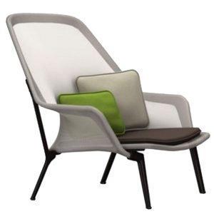 Vitra Slow Chair Nojatuoli Ruskea / Kerma Suklaanruskea