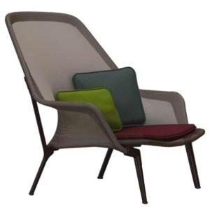 Vitra Slow Chair Nojatuoli Ruskea Suklaanruskea
