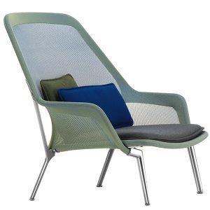 Vitra Slow Chair Nojatuoli Sininen / Vihreä Alumiini
