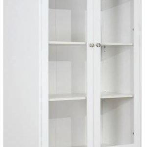 Vitriinikaappi Amanda 2-ovinen valkoinen