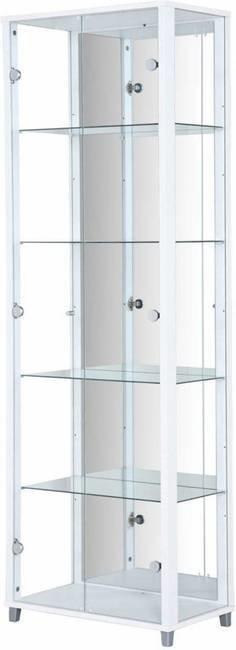 Vitriinikaappi Freja 2 ovella ja peilillä valkoinen