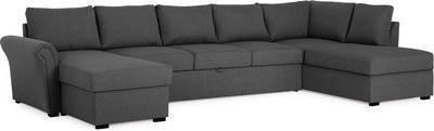 Vuodesohva Maria U-sohva XL oikea kappatyynyillä tummanharmaa