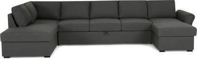 Vuodesohva Maria U-sohva XL vasen kappatyynyillä tummanharmaa