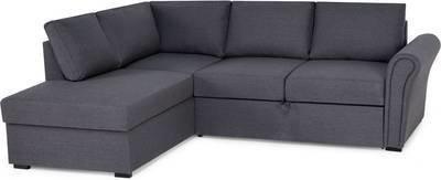 Vuodesohva Maria kolmen istuttava L-sohva oikea tummanharmaa