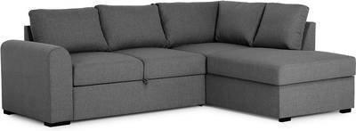Vuodesohva Marita kolmen istuttava L-sohva oikea tummanharmaa
