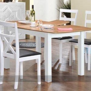 Wood Jatkettava Ruokapöytä Birmingham 120/150x90 Cm