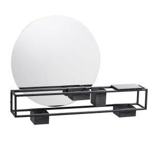 Woud Mirror Box Peili Musta